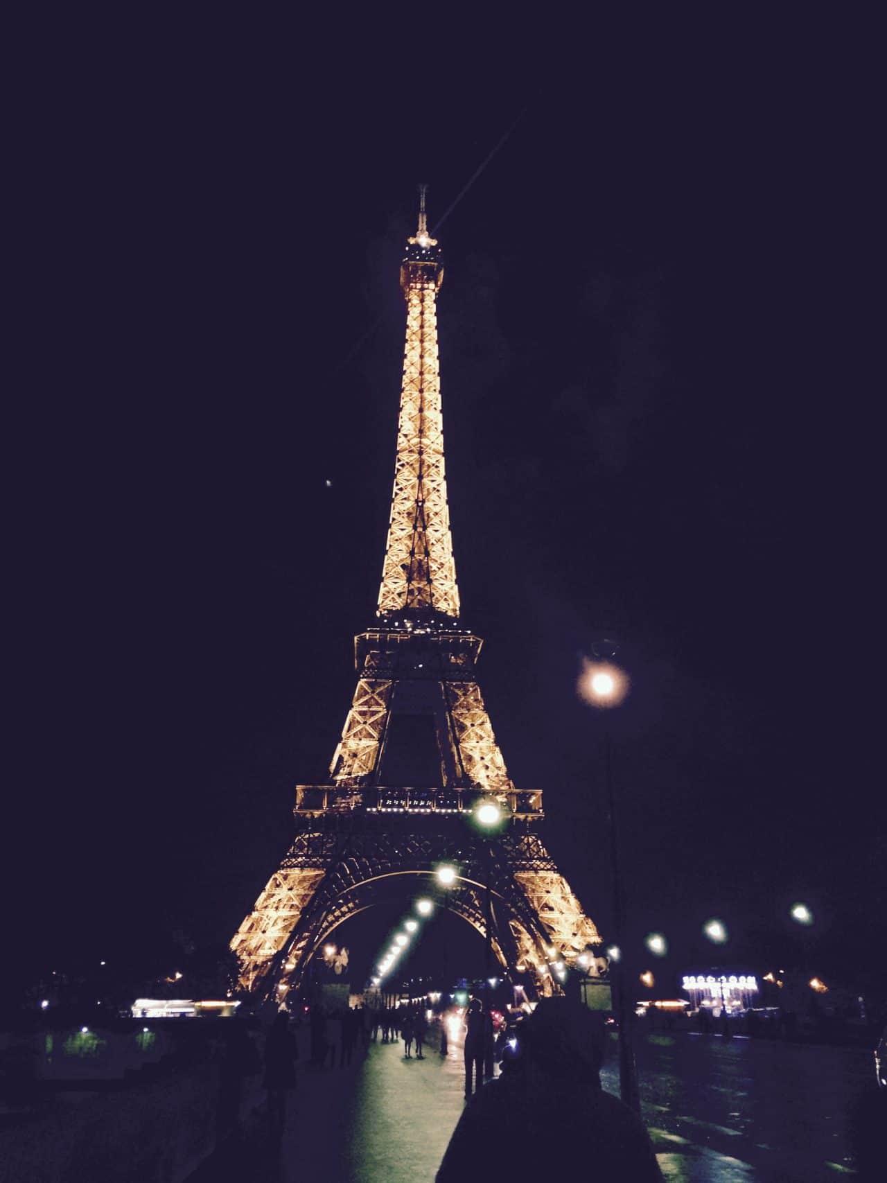 Eiffel Tower, Paris at Nighttime