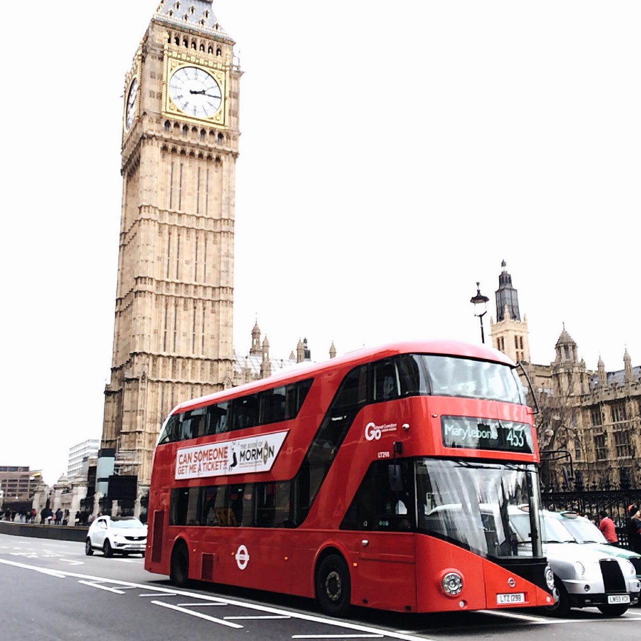 Big Ben and double decker bus