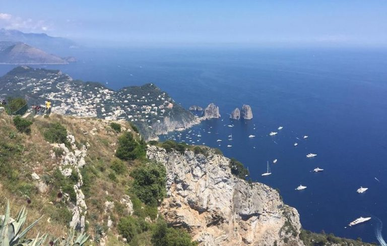 view of capri italy from above