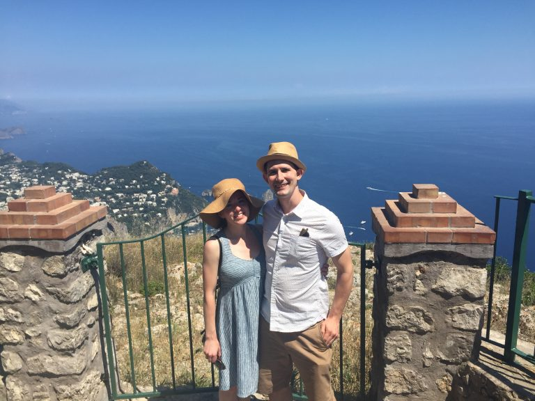 man and woman in capri italy