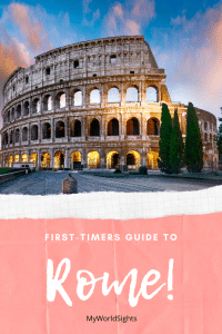 Rome itinerary for first timers