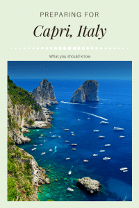 preparing for capri italy