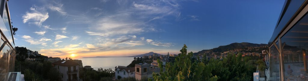 panoramic view of Sorrento italy
