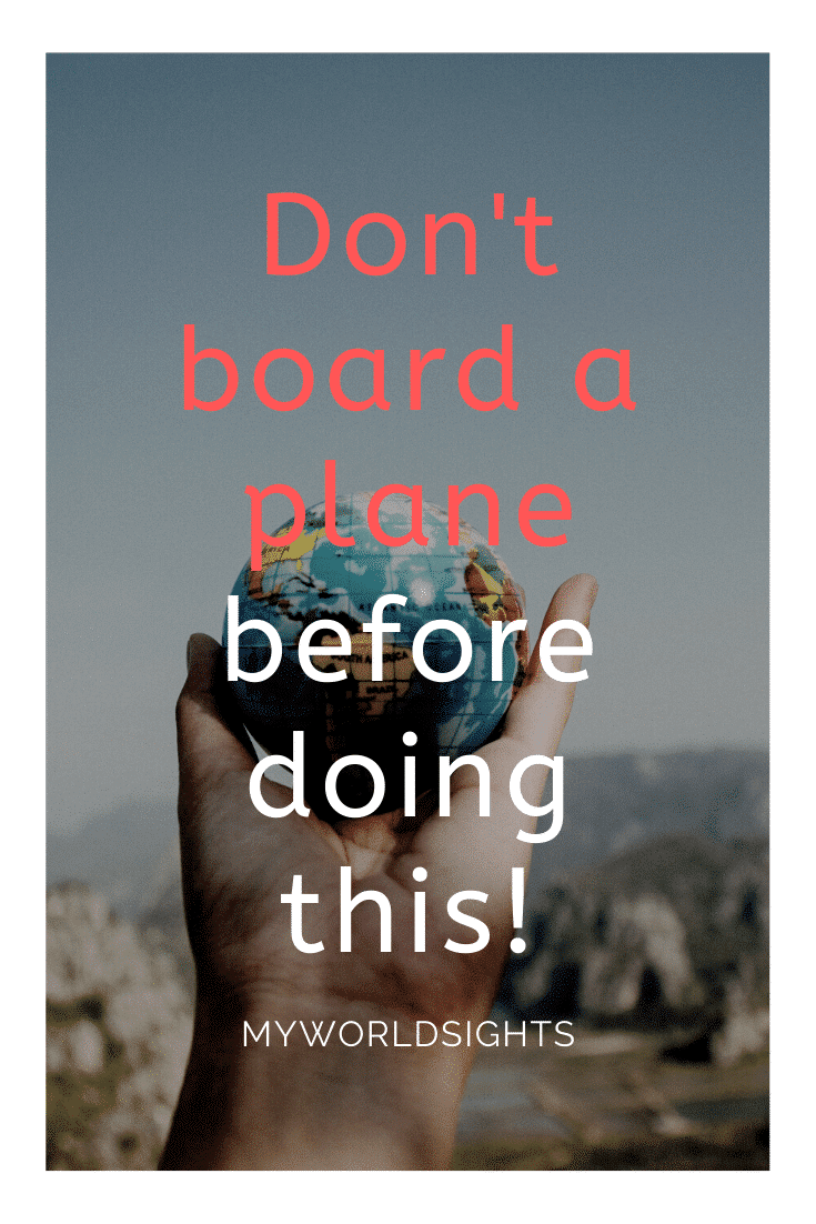 Don't board a plane before doing this!