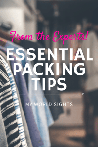 Essential packing tips