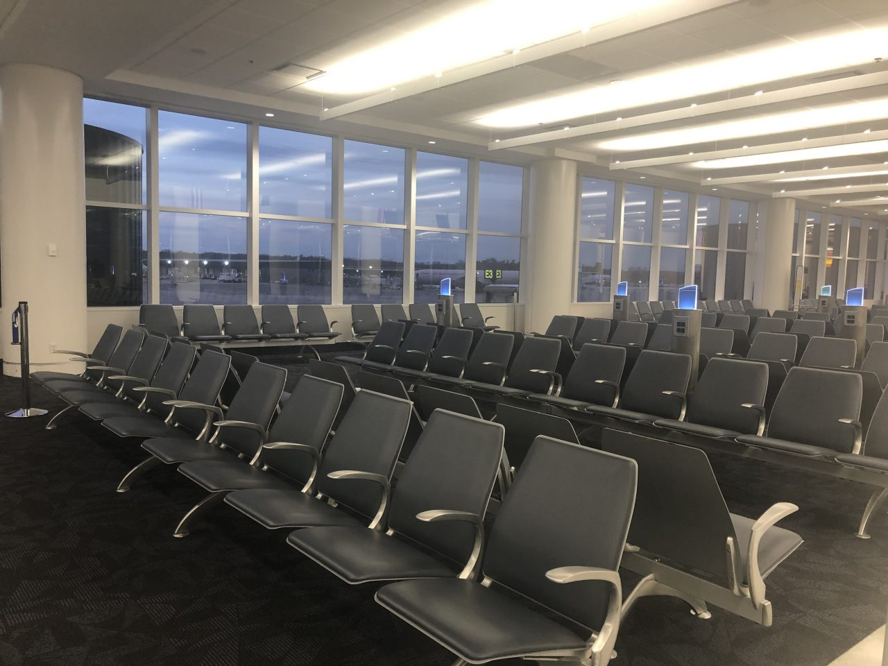 empty gate at airport