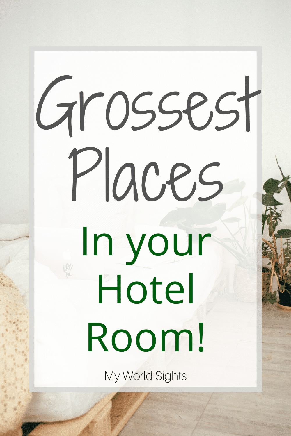 Grossest places in your hotel room