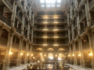 inside peabody library in Baltimore