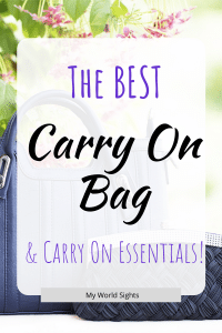 the only carry on bag you will ever need