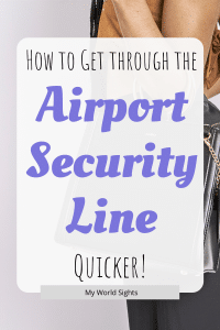 how to get through the airport security line quicker