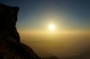 Brown Mountain Rock during Dawn