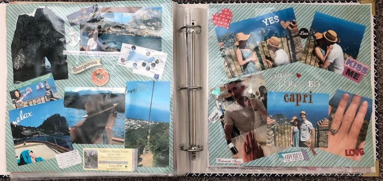 scrapbook images of Capri italy