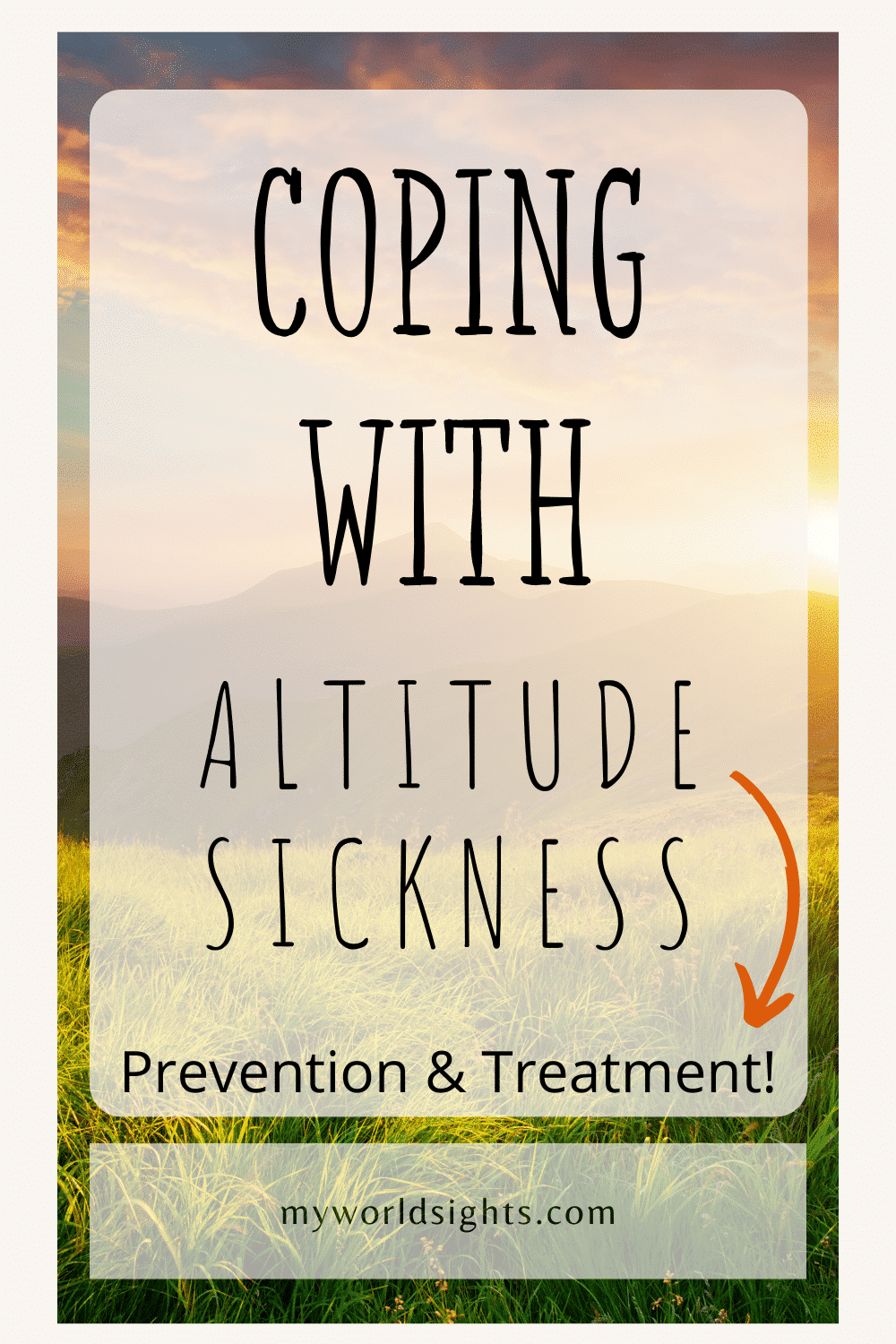 coping with altitude sickness
