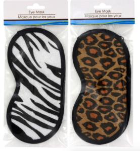 zebra and cheetah sleep masks
