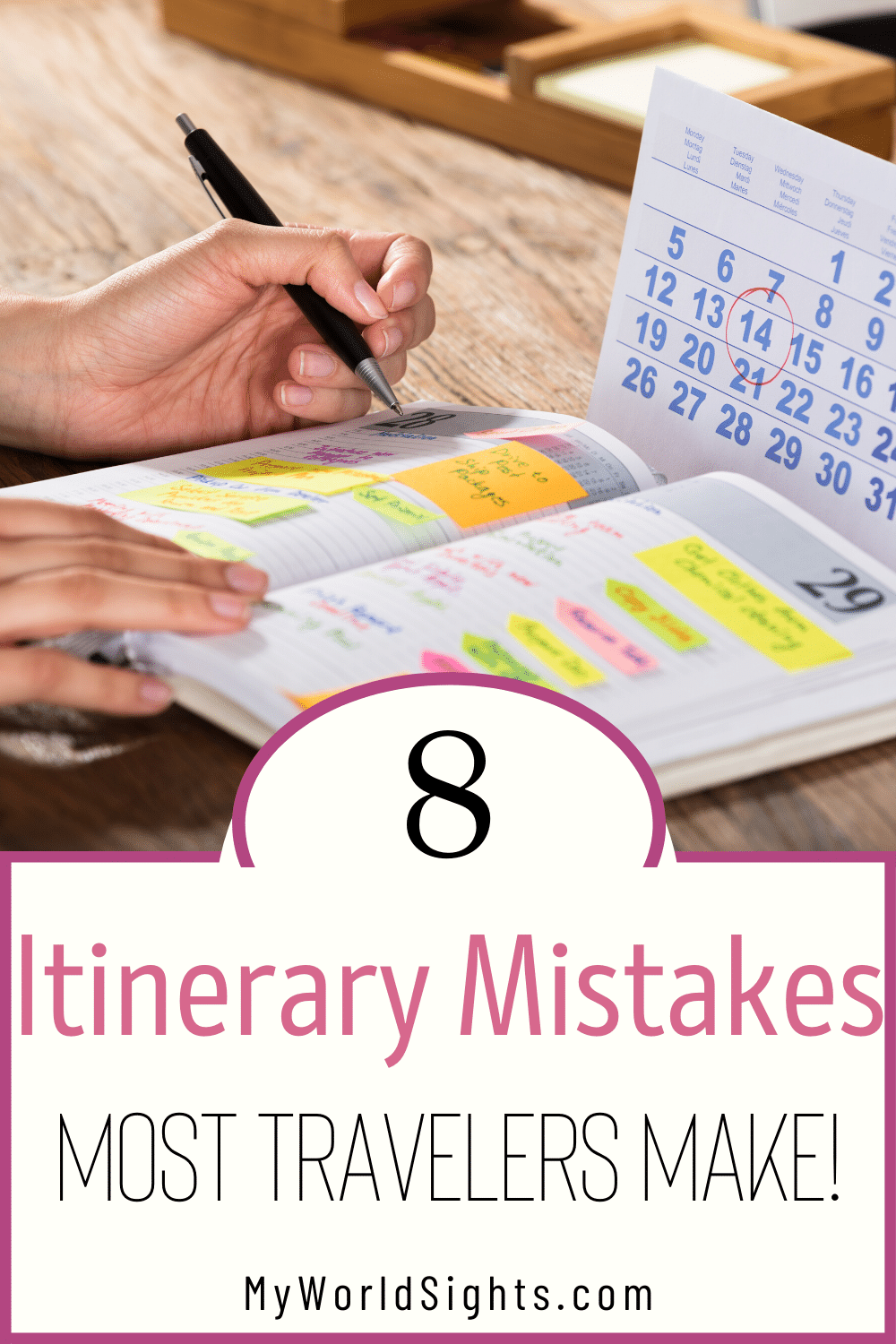 travel itinerary mistakes
