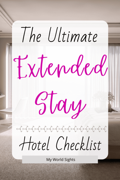 extended stay hotel checklist